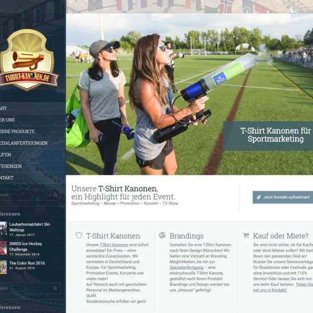 Webdesign TShirt Kanonen